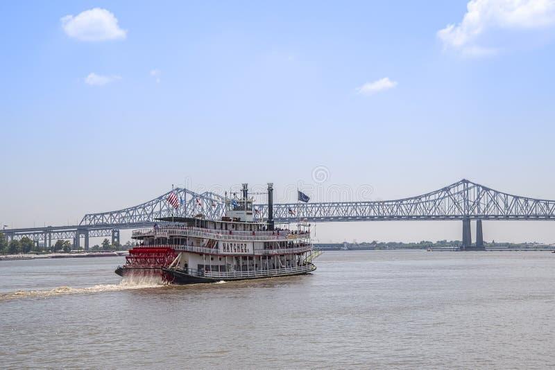 Barca Natchez del fiume Mississippi immagine stock libera da diritti