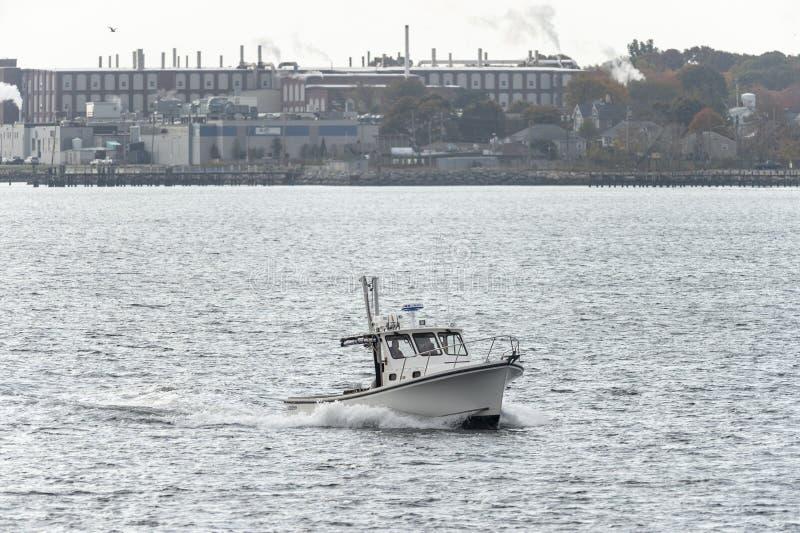 Barca nuovo Bedford South End dell'aragosta immagini stock libere da diritti