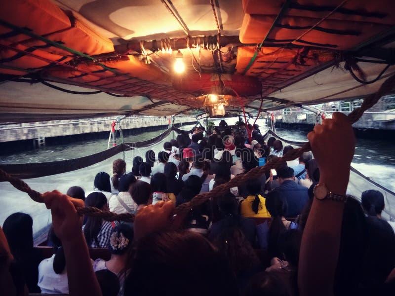 Barca occupata fotografia stock