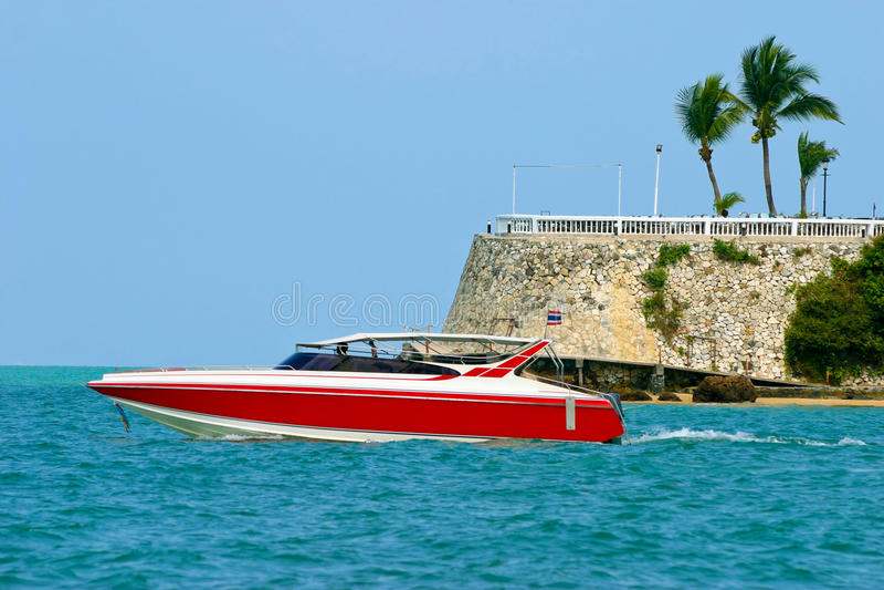 Barca a Pattaya, Tailandia immagini stock libere da diritti