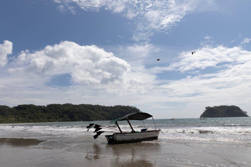 barca Playa Samara Beach Cota Rica fotografie stock