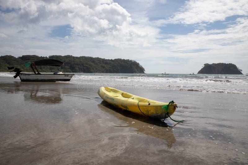 barca Playa Samara Beach Cota Rica immagini stock libere da diritti