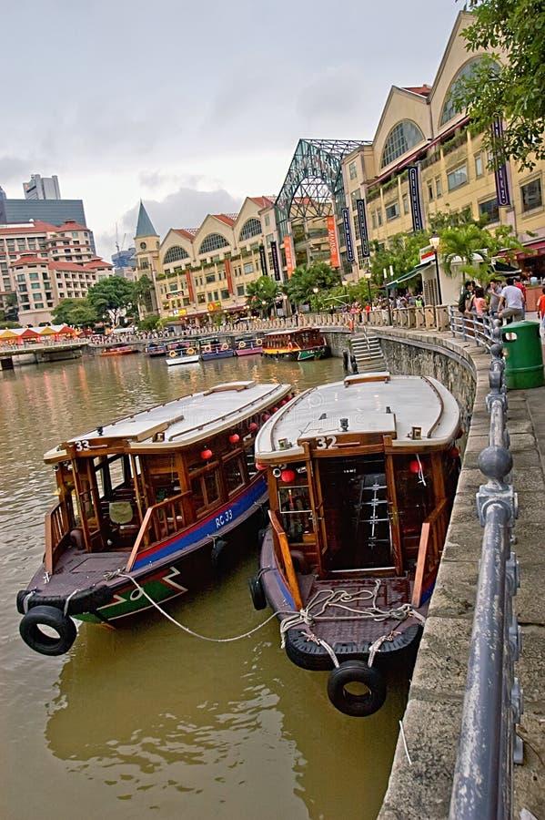 Barca Quay di Singapore fotografia stock