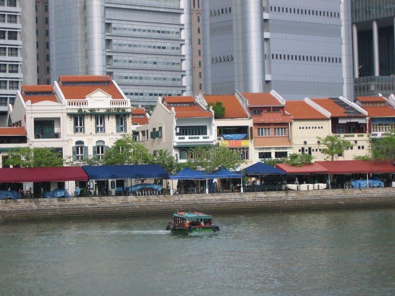 Barca Quay @ Singapore fotografia stock