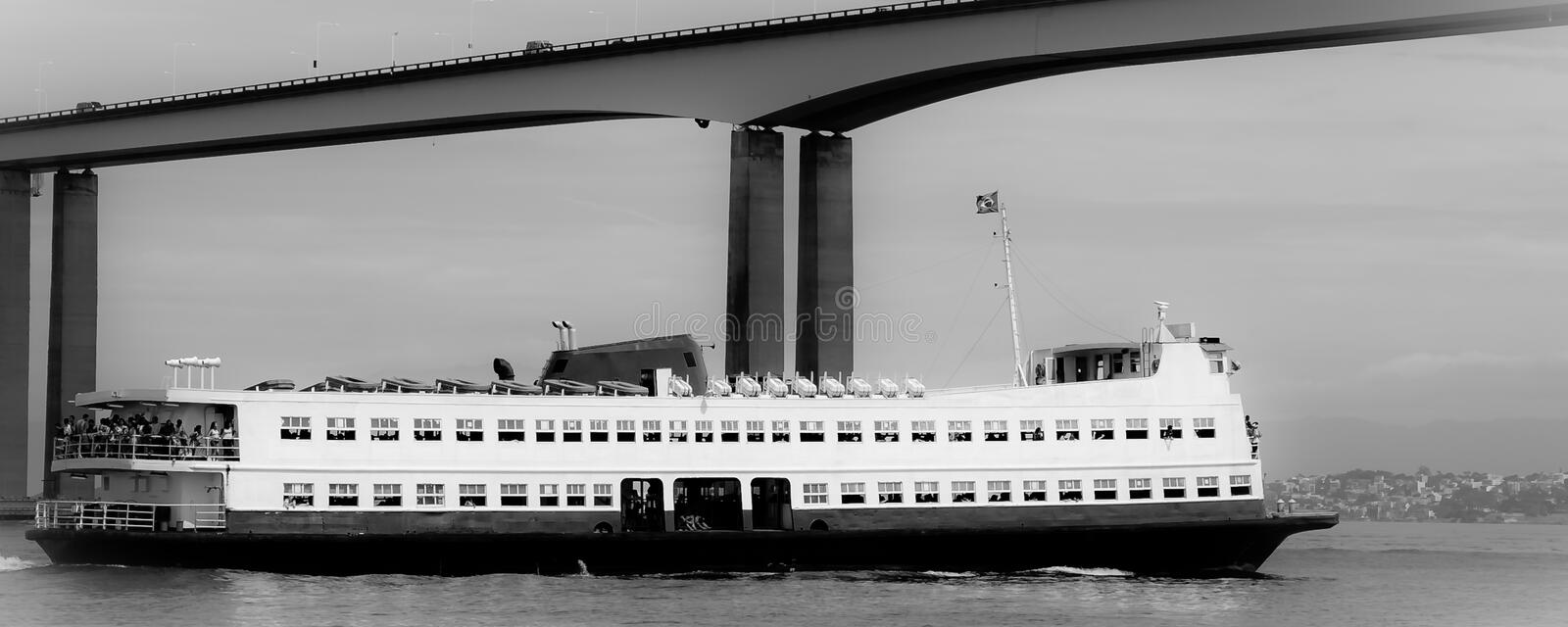 Barca Rio-Niteroi Ferry Boat On Baia De Guanabara Stock Photography