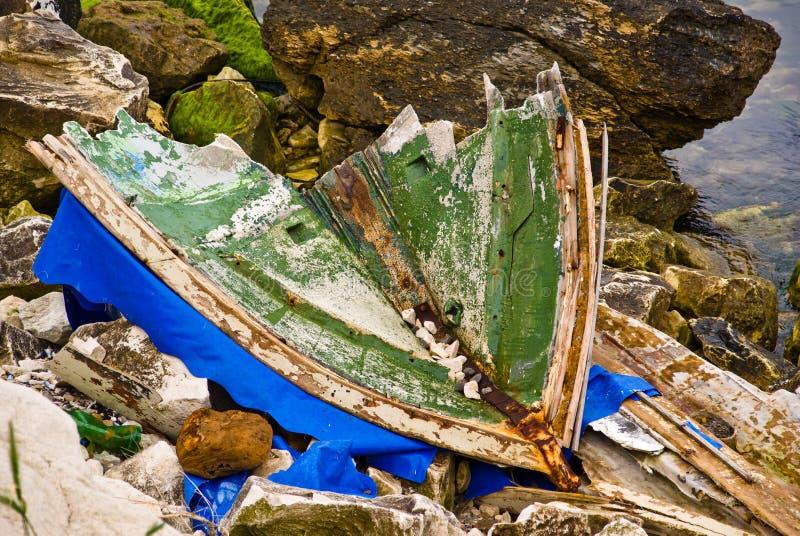 Barca rotta fotografie stock libere da diritti