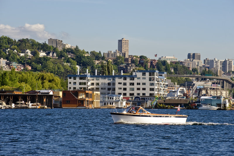Barca a Seattle fotografia stock