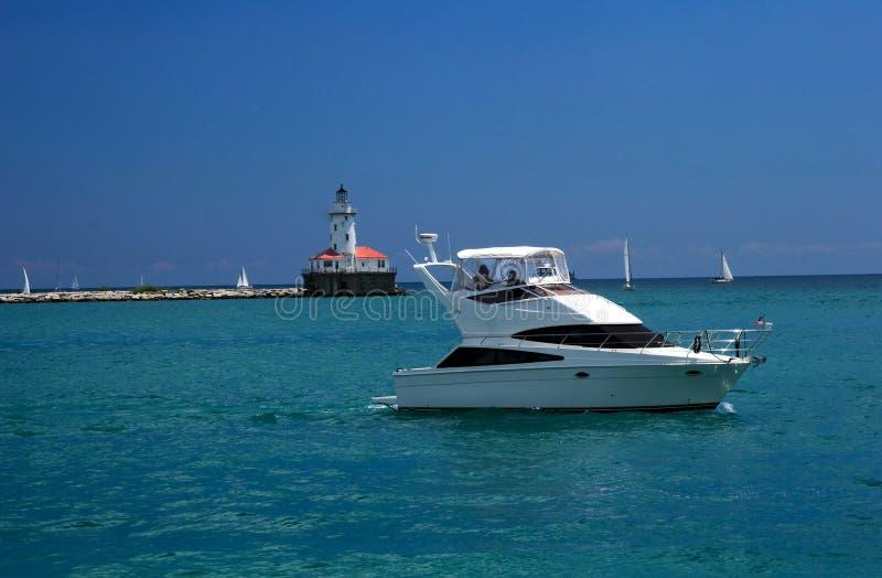 Download Barca sul lago Michigan immagine stock. Immagine di michigan - 7304171