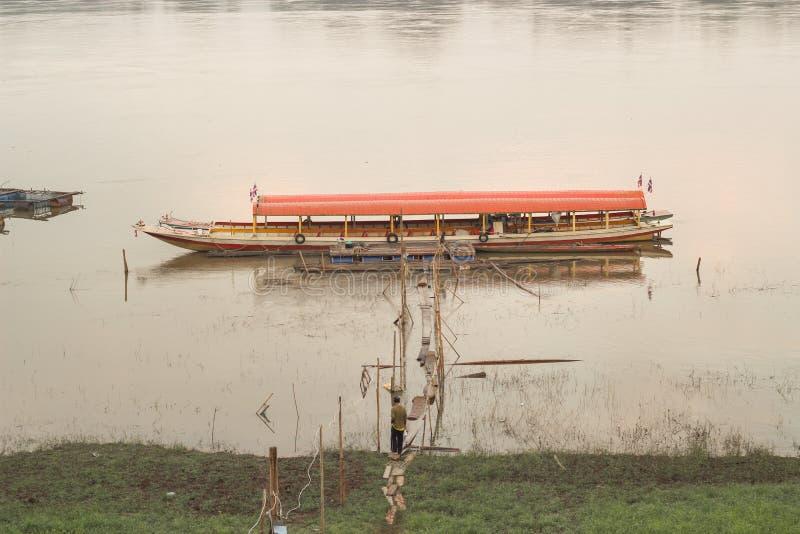 Barca sul Mekong fotografie stock libere da diritti