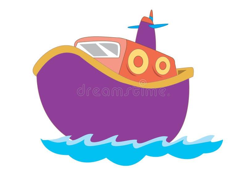 Barca sveglia per l'illustrazione dei bambini illustrazione di stock