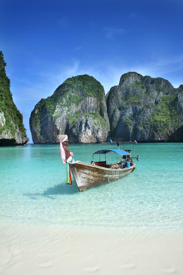 Barca tailandese tradizionale fotografie stock