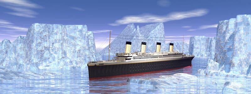 Barca titanica illustrazione di stock