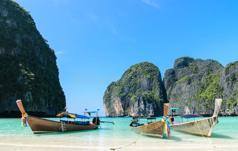 Barca tradizionale tailandese del longtail fotografia stock