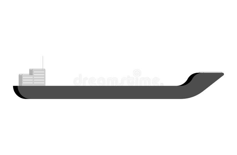 Barca vazia isolada Ilustração do vetor do navio de carga ilustração royalty free