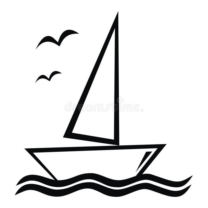 Barca a vela illustrazione di stock
