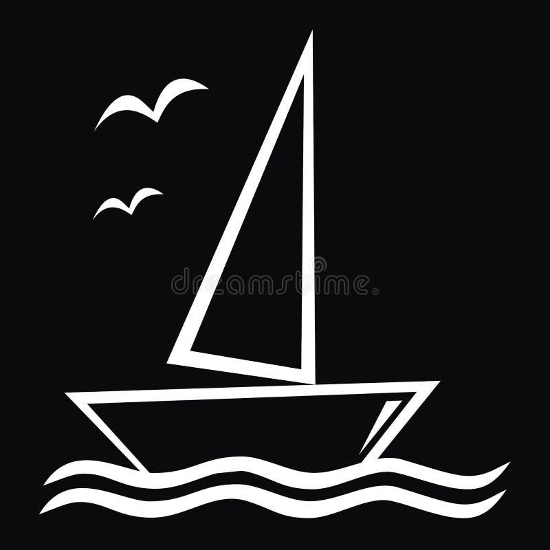Barca a vela royalty illustrazione gratis