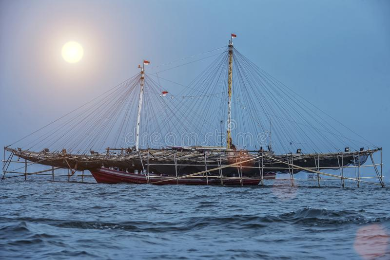 Barca a vela da pesca tradizionale fotografie stock libere da diritti