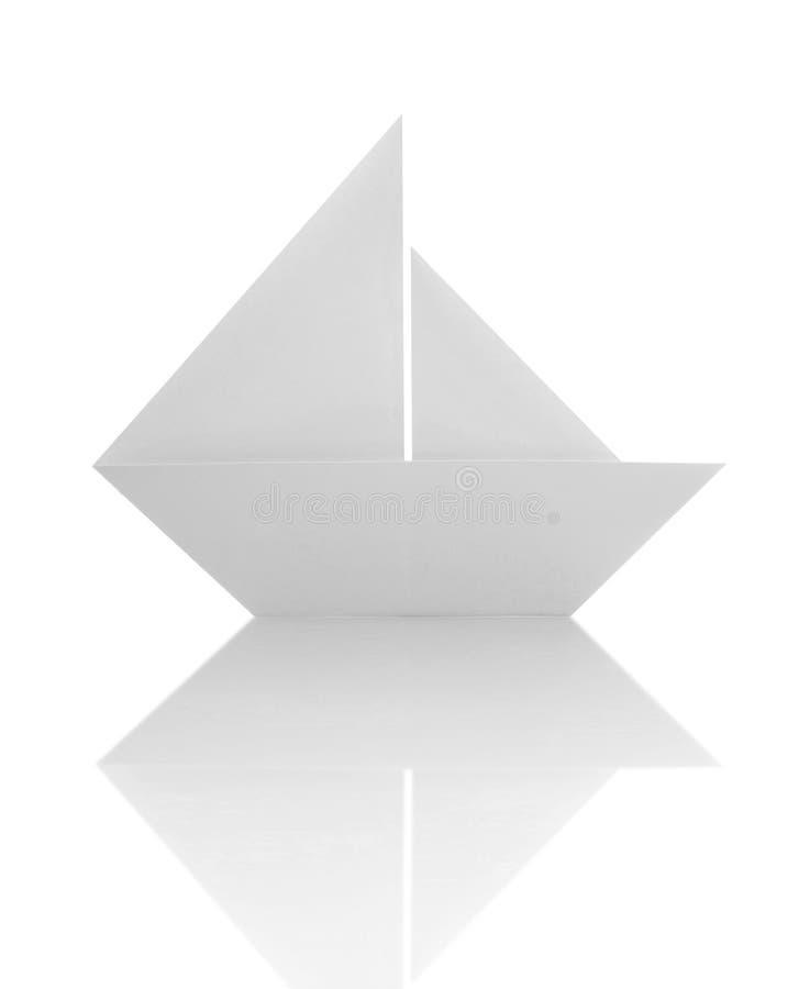 Barca a vela di carta di origami immagine stock libera da diritti