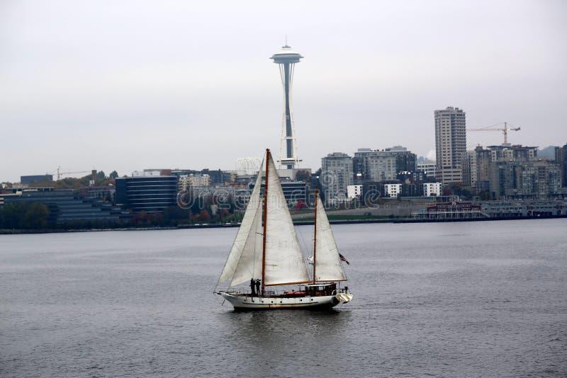 Barca a vela vicino a Seattle Washington immagini stock
