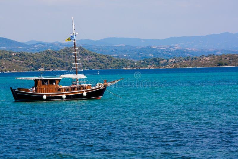 Barca in Vourvouru fotografia stock