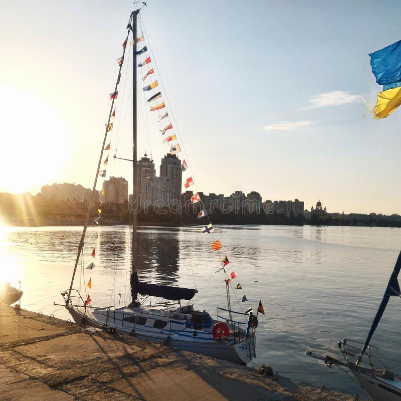 Barca, yacht fotografie stock