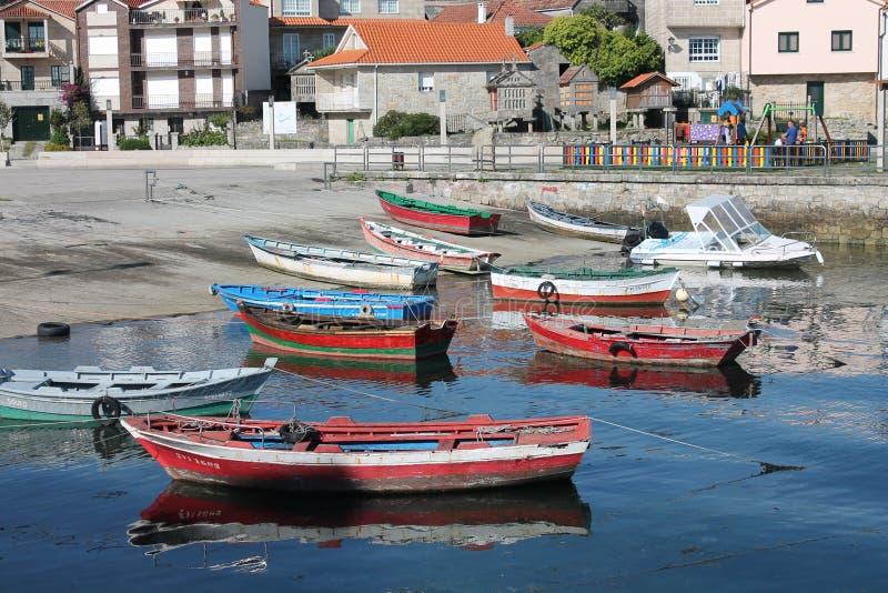 Barcas Combarro στοκ φωτογραφία με δικαίωμα ελεύθερης χρήσης