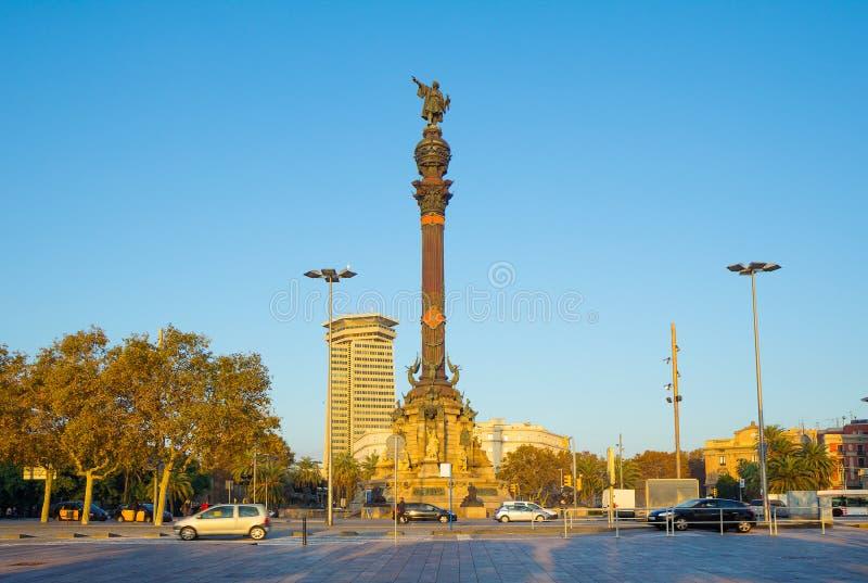 Barcellona Columbus Monument fotografia stock libera da diritti