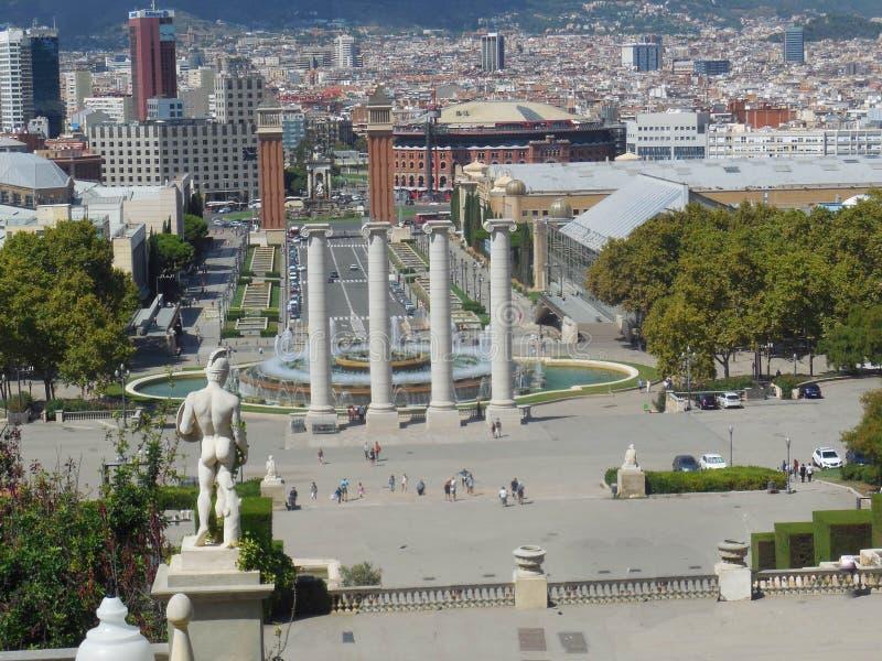 Barcellona dai punti fotografie stock libere da diritti