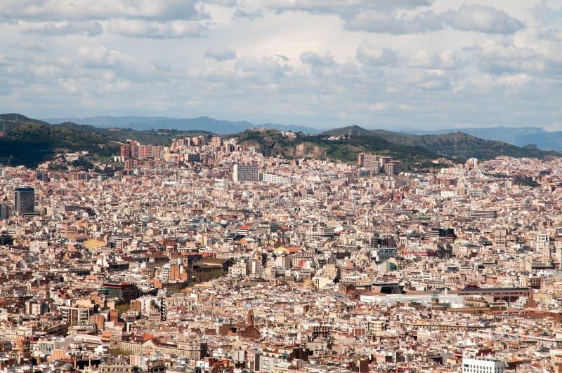 Barcellona dall'aria immagini stock