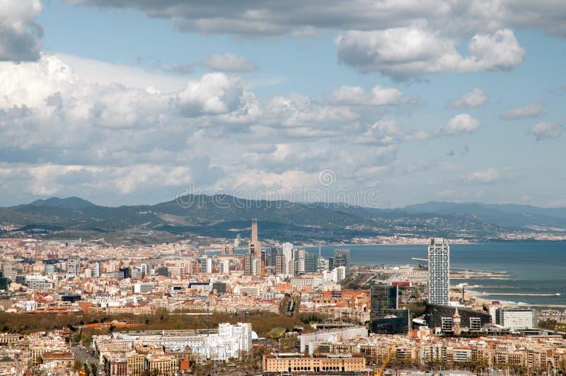 Barcellona dall'aria fotografie stock libere da diritti