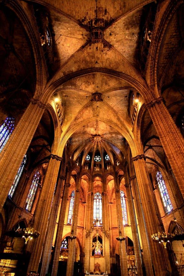 Barcellona gotica immagine stock