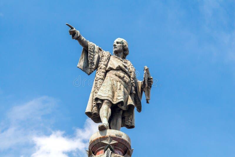 Barcellona Monumento a Christopher Columbus fotografia stock