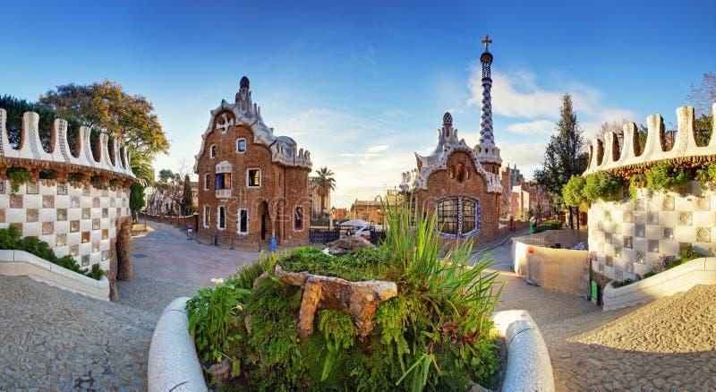 Barcellona, parco di Guell, Spagna immagine stock libera da diritti