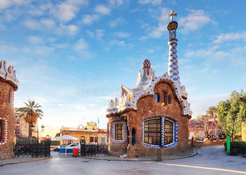 Barcellona, parco di Guell, Spagna fotografia stock libera da diritti