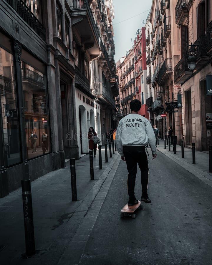 Barcellona una nuova vita fotografia stock libera da diritti