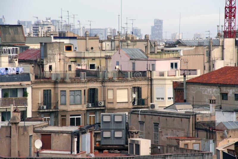 barcelona настилает крышу взгляд стоковые фото