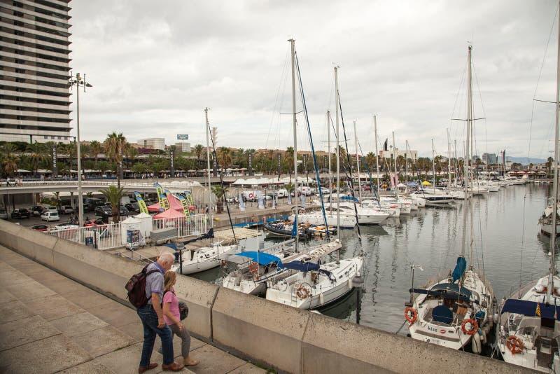 barcelona олимпийская гаван Испания стоковое изображение rf