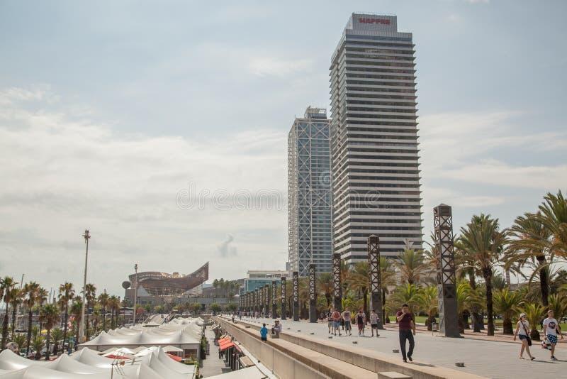 barcelona олимпийская гаван Испания стоковое фото
