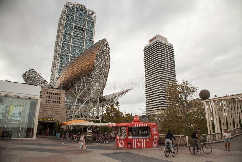 barcelona олимпийская гаван Испания стоковое фото rf