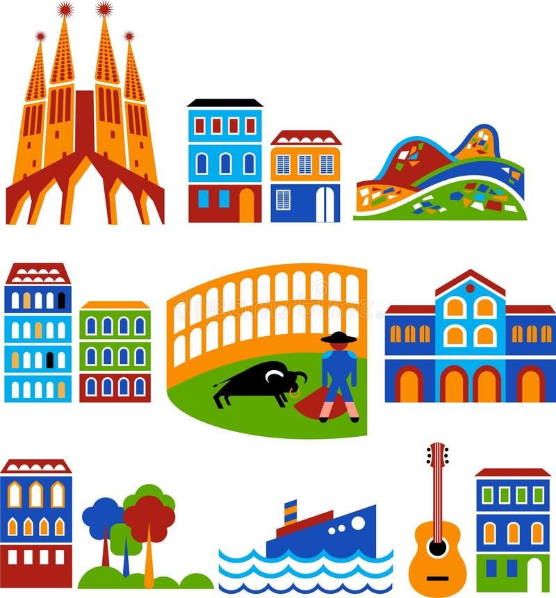 Barcelona ilustración del vector