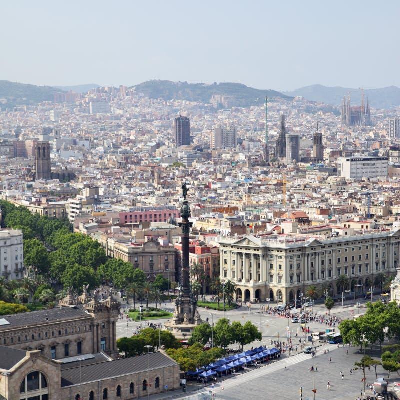 Barcelona. View of Barcelona city, Catalonia, Spain royalty free stock photography