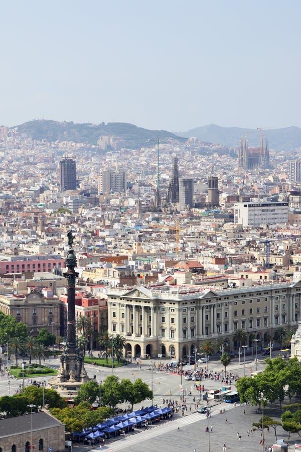Barcelona. View of Barcelona city, Catalonia, Spain stock photos