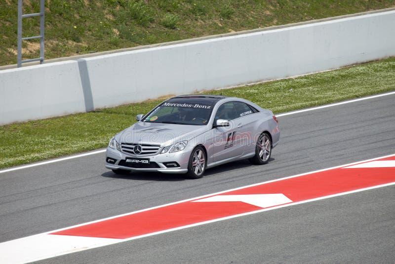 BARCELONA 9 MEI: De auto van de veiligheid op autodrome \ stock fotografie