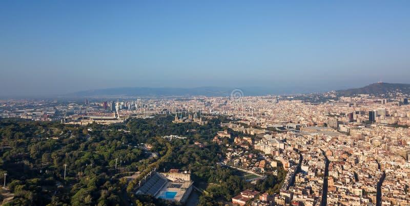 Barcelona aérea imagenes de archivo