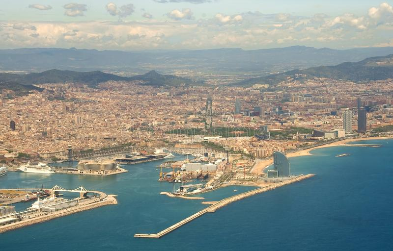 Barcelona from the air stock images