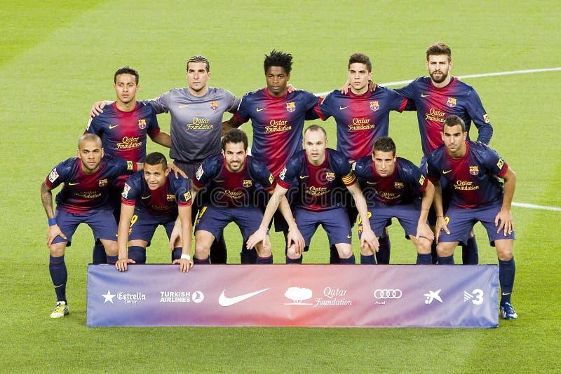 FCet Barcelona team 2013 fotografering för bildbyråer