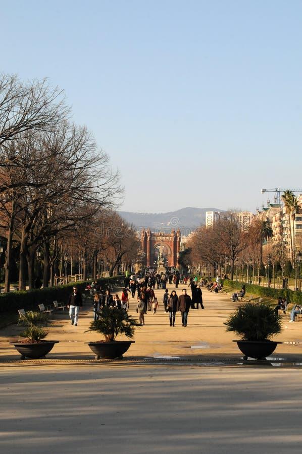 Barcelona Arc de Triomf lizenzfreies stockbild