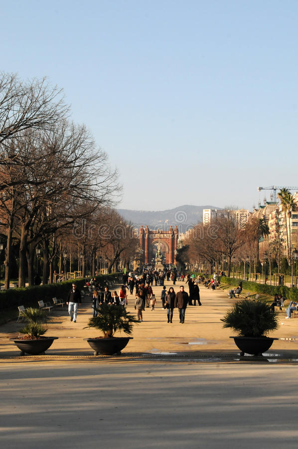 Barcelona Arco de Triomf imagem de stock royalty free