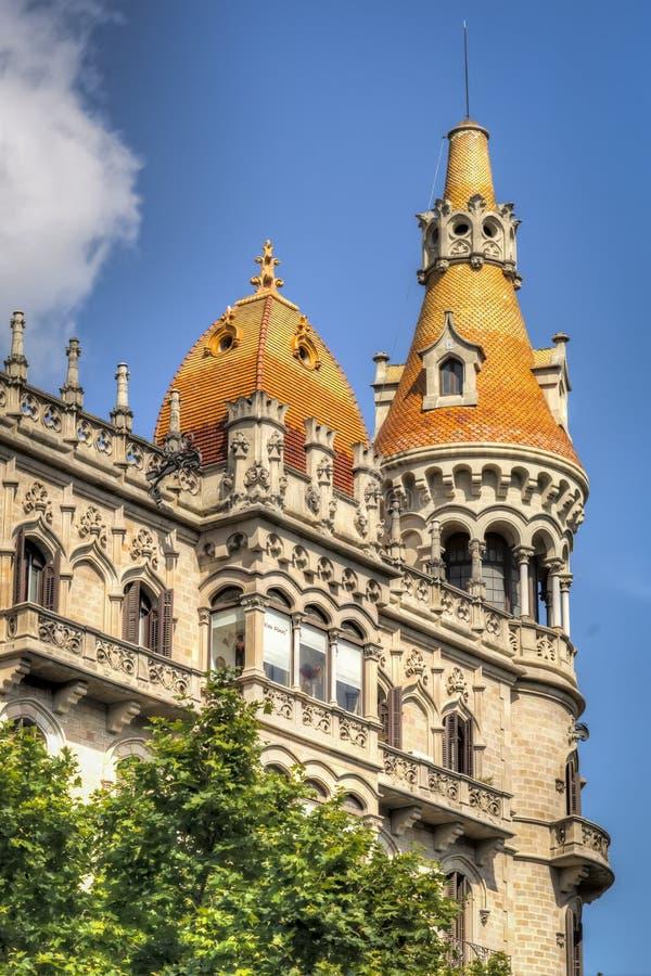 Barcelona arkitektur arkivbild