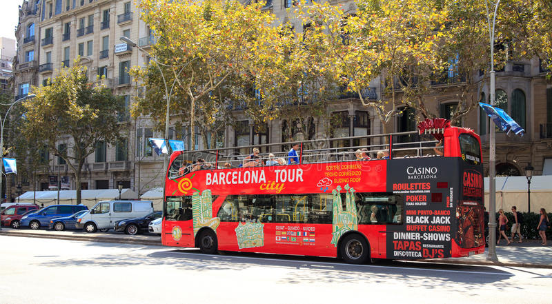 Barcelona-Ausflug-Stadt-Bus stockbilder